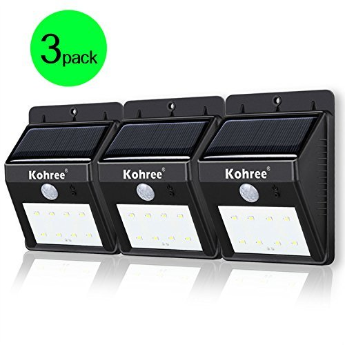 Kohree 3 Pack Of Bright Led Wireless Solar Powered Motion