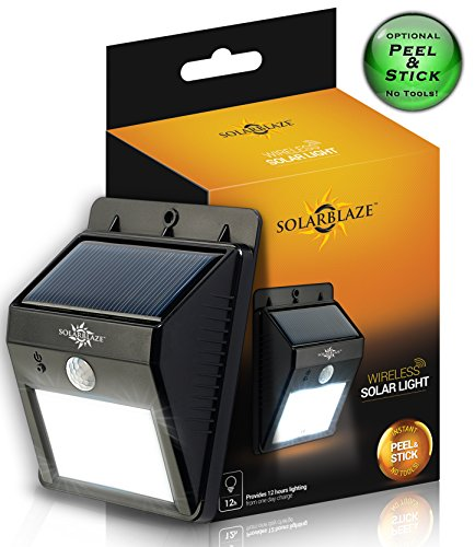 Solar powered bright led light motion sensor detector wireless solar powered bright led light motion sensor detector wireless security no tools 1 outdoor peel n stick no battery required weatherproof lighting mozeypictures