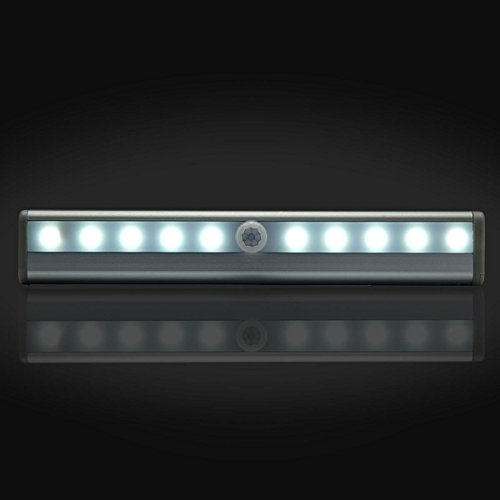 10 Leds Wireless (Motion Sensor Light) Closet Light Stair Portable Magnetic  Under Cabinet Bar Light Step Light