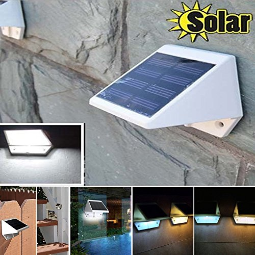 Superb MarSwell® 4 LED Cool White Waterproof Solar Powered Light Step Light,  Wireless Outdoor Motion Sensor Detector Wall Light Stairway Path Garage  Patio Lighting ... Part 23