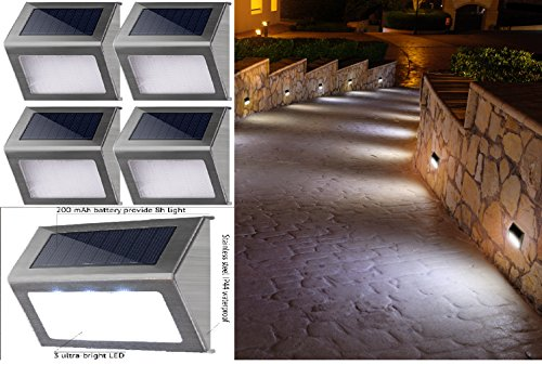 Fence post lighting techieblogiefo great new solar outdoor steps lights best white led waterproof aloadofball Gallery