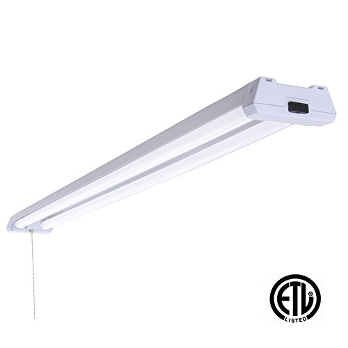 Replace Garage Lights: LED 4ft Utility Shop Light-40w (100W Replacement), 5000K