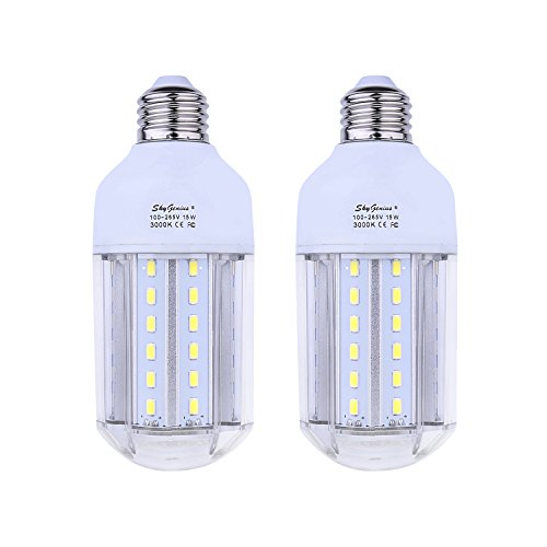 Replace Garage Lights With Led: 15W Warm White LED Corn Light Bulb 100W Incandescent