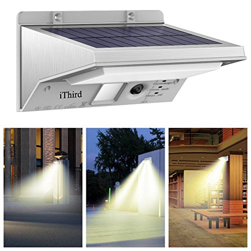 Residential Garage Led Lights: Solar Security Lights, IThird 21 LED Motion Sensor Wall