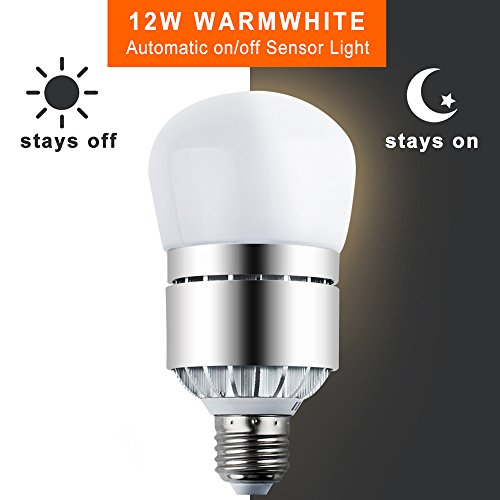 Led light bulbs dusk to dawn sensor lights bulb smart lighting led light bulbs dusk to dawn sensor lights bulb smart lighting lamp 12w 1200lm e26e27 socket 3200k auto onoff indoor outdoor security light for porch mozeypictures Images