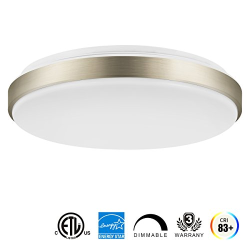 lvwit 15 inch led ceiling light 22w 1500 lumens dimmable 160w incandescent equivalent daylight. Black Bedroom Furniture Sets. Home Design Ideas