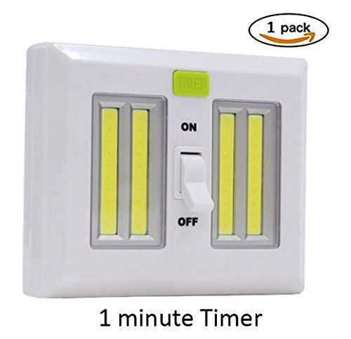 KMSdeco LED Light Switch With Timer