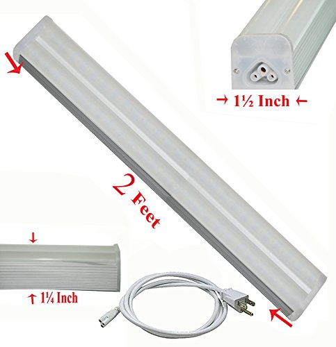 8 Ft 2 Lamp Fluorescent Strip Light White No Ssf2964wp 8ft: SleekLighting T5 LED Linkable Utility Garage Workshop