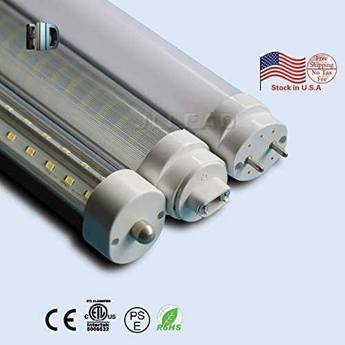Replace Garage Lights: US Warehouse 5 Pack Double Rows T8 LED Light Tube V Shape