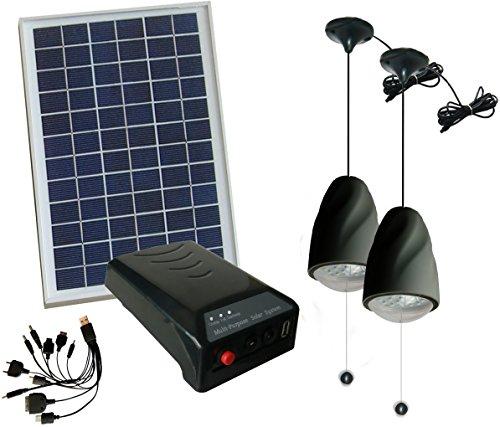 Led Garage Lights Battery: 5W Panel Solar Home System
