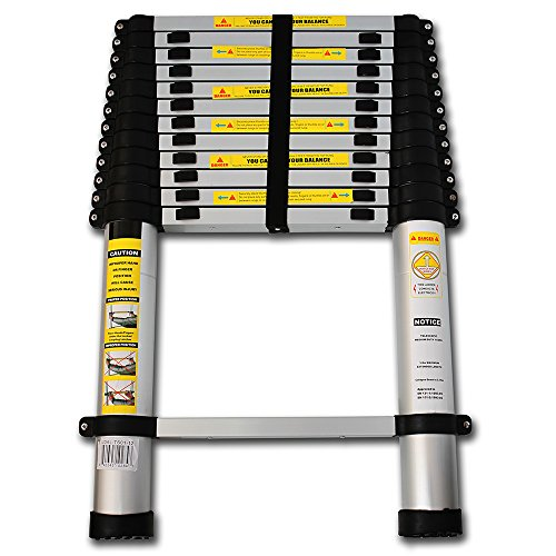 Oxgord 174 Aluminum Telescopic Ladder 12 5 Ft Heavy Duty