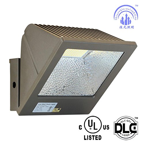 Residential Garage Led Lights: SGL 80W LED Wall Pack, UL And DLC-Qualified,Super Bright