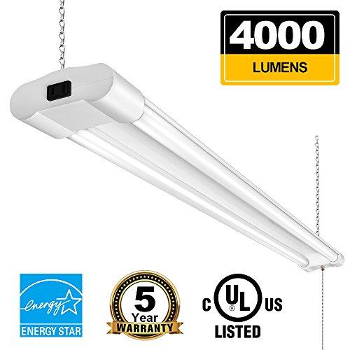 Linkable 4FT LED Shop Lights For Garage BBOUNDER 40W 4000