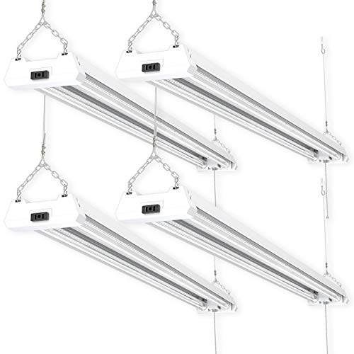 Sunco Lighting 4 Pack 4ft 48 Inch LED Utility Shop Light